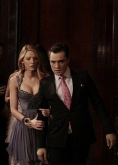 Still of Blake Lively and Ed Westwick in Gossip Girl (2007)