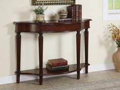 how to choose entryway tables with books