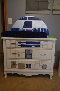 R2D2 Dresser and Changing Table Top from Doin' It with Jamie: Star Wars Nursery