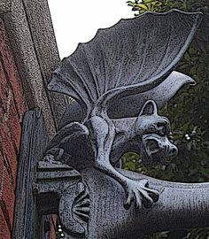 Haunted Mansion Gargoyle   photo by B. Albrecht