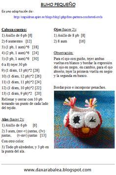 Hola!! ¿Cómo están?    Tal como les había comentado en el post anterior, esta entrada va dedicada al Taller de Amigurumis  que estoy dictand... Crochet Owls, Crochet Tote, Diy Crochet, Chrochet, Easy Crochet Patterns, Crochet Designs, Knitting Humor, Crochet Keychain, Baby Embroidery