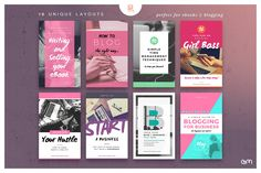 Ebook Cover / Blog Post Graphics - Web Elements - Easy to edit Templates - FREE Images Included