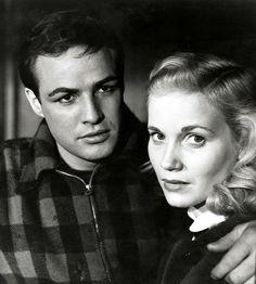Marlon Brando and Eva Marie Saint in On the Waterfront