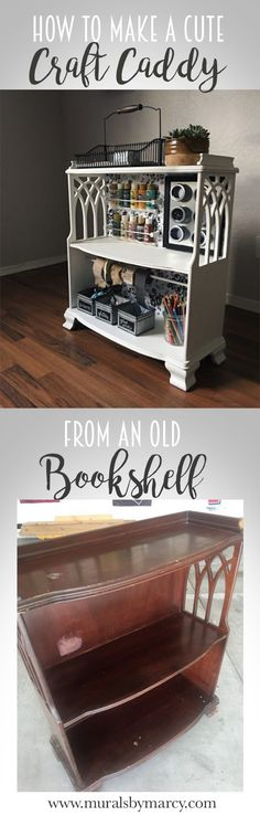 Easy DIY project to inspire even more creativity. Old Bookshelves, Cute Crafts, Easy Diy Projects, Murals, Creativity, Inspire, Storage, How To Make, Inspiration