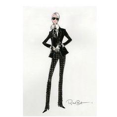 Karl Lagerfeld é o mais novo colaborador da Mattel. O estilista desenhou uma boneca para a Barbie Collector, linha que costuma render parcerias fashionistas dignas de colecionador. Diferentemente das outras colaborações, que ganharam versão miniatura de looks-desejo de grandes estilistas, a boneca é uma versão feminina do icônico kaiser com direito a camisa, blazer, gravata, luvinhas e óculos escuros. As madeixas, claro, são brancas, como as do estilista. Must have total!