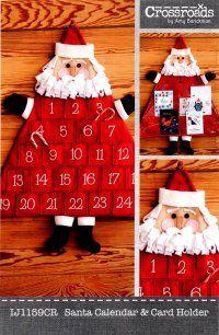 "Count down the days... ""Santa Calendar & Card Holder"""