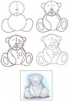How to draw Tatty Teddy Drawing Lessons, Drawing Techniques, Drawing Journal, Art Sketchbook, Tatty Teddy, Step By Step Drawing, Drawing For Kids, Drawing Ideas, Disney Drawings