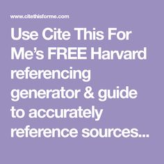 automatic harvard referencing