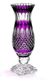 Vases – Home Decor : Lavender Pedestal Chimney Style Polish Crystal Vase - Decor Object Purple Home, The Purple, All Things Purple, Purple Glass, Purple Rain, Shades Of Purple, Cobalt Glass, Purple Stuff, Cobalt Blue