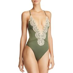 Blue Life Mirage Halter One Piece Swimsuit ($165) ❤ liked on Polyvore featuring swimwear, one-piece swimsuits, fern, halter one piece swimsuit, scalloped one piece swimsuit, boho bathing suits, bohemian one piece swimsuits and halter bathing suit