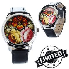 Peonies Watch Wristwatch / Cool Modern Retro by ZIZWatches, Limited Collection, Modern Retro, Watches, Unique Jewelry, Peonies, Spring, Floral, Summer, Summer Time