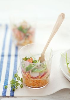 Red Lentil, Salmon and Fennel Salad #recipe / photo © Aran Goyoaga