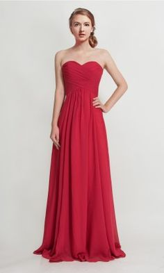 Long Sweetheart Strapless Bridesmaid Dress TBQP237