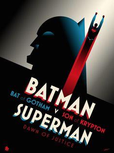 Batman v Superman poster on Behance