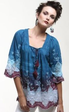 Amazing lace dip dye tunic blouse at tryst-boutique.com