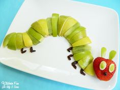 The Very Hungry Caterpillar Fruit Snack from KitchenFunWithMy3Sons.com