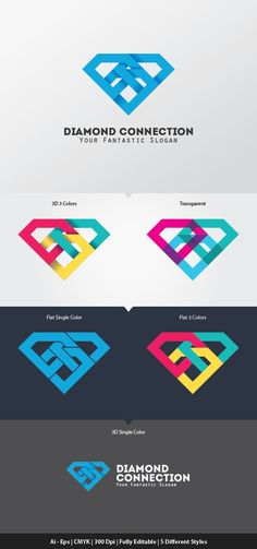 Diamond Connection Logo Template on Behance