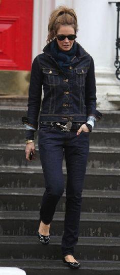 dark denim jackets for women outfits - Google Search   denim world