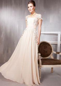 Stupendous Square Beading Floor-length Dress, Evening Dresses Wholesale