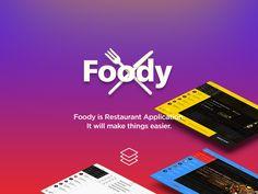 Foody App for iPad by Mert Öztopkara