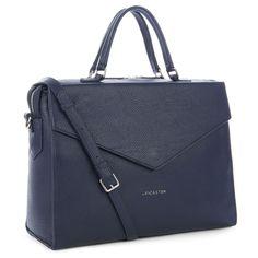 Dark Blue satchel, Tara, Lancaster Paris. #bluemarine #satchel #bag #leather #briefcase #handbag #lancasterparis #lancaster #britchic