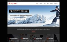 SkyWay – Responsive HTML5 Template http://themifycloud.com/downloads/skyway-responsive-html5-template/