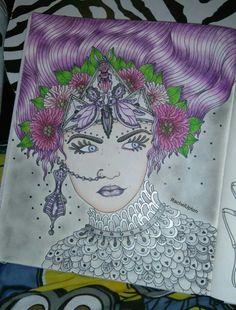 Colored Pencil Tutorial Hanna Geisha Pencils Adult Coloring Books Daydream Zentangles Colour Book