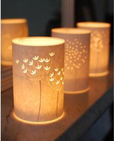 融合自然元素的纸皮灯