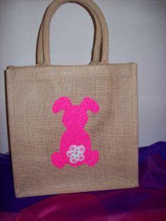 Medium Luxury Unique Bespoke Hand Embellished Jute Bag
