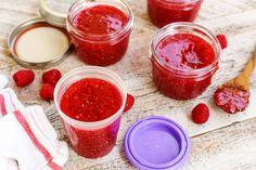 No-Cook Red Raspberry Freezer Jam