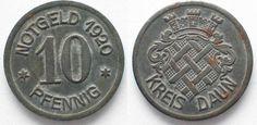 1920 Daun (Rheinprovinz) DAUN 10 Pfennig 1920 iron XF! # 92489 ef