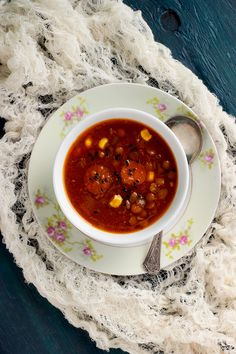 Sesame Lentil Soup With Pureed Roasted Red Bell Peppers - CaliZona