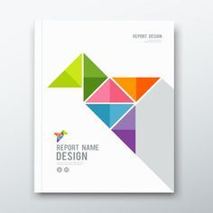 Illustration of Cover Annual report, colorful bird origami paper design vector art, clipart and stock vectors. Design Brochure, Brochure Cover, Brochure Template, Brochure Ideas, Page Design, Cover Design, Layout Design, Web Layout, Website Layout