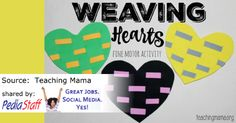 Weaving Hearts- repinned by @PediaStaff – Please Visit  ht.ly/63sNt for all our pediatric therapy pins