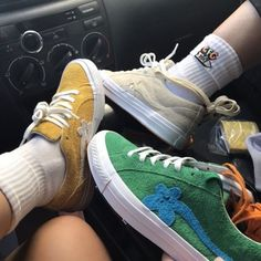 Aesthetic vintage art hoe trendy casual cool edgy grunge outfit fashion style idea ideas inspo inspiration for school for women winter summer golf le fleur shoes sneakers tyler the creator clothing line Sock Shoes, Cute Shoes, Me Too Shoes, 90s Shoes, Sup Girl, Aesthetic Shoes, Pumped Up Kicks, Hipster Outfits, Mode Vintage
