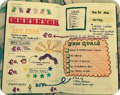 Moleskine planner, week 1 by MsLogica, via Flickr