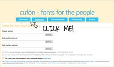 Cufón font replacement how-to guide: GREAT resource