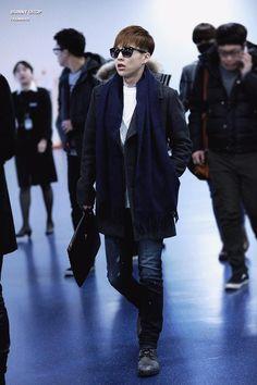 150131- EXO Xiumin (Kim Minseok); Gimpo Airport to Busan Airport #exom #fashion #style