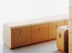 Storage cubes that double as table.
