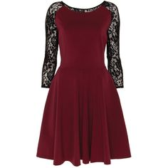 Alice by Temperley Mini Solitaire Dress ($185) ❤ liked on Polyvore featuring dresses, red, bordeaux, flared dress, flare mini dress, flare dresses, flare cocktail dress and stretch mini dress