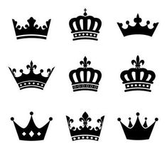 - Millions of Creative Stock Photos, Vectors, Videos and Music Files For Your Inspiration and Projects. Vector - Collection of crown silhouette symbols Crown Painting, Crown Drawing, Crown Art, Mini Tattoos, Small Tattoos, Tattoos For Guys, Coroa Tattoo, Crown Silhouette, Crown Images