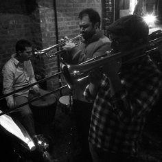 """@thequeenskickshaw's photo: """"There's a lotta brass @QueensKickshaw tonight with Josh Deutsch's Pannonia."""""""
