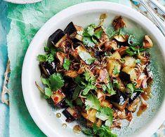 Stir-fried eggplant with sweet tamarind sauce recipe :: Gourmet Traveller Jam Recipes, Sauce Recipes, Asian Recipes, Cooking Recipes, Ethnic Recipes, Free Recipes, Vegetable Recipes, Vegetarian Recipes, Peanuts