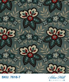 Civil War Fabric Blue Hill Fabric Carrie's Madders 3601