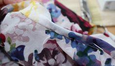 sewing galaxy: Bluse + Tutorial für Halsausschnittverarbeitung bei nicht elastischen Stoffen
