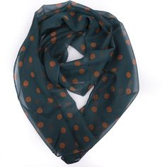 Bottle Green Polka Scarf