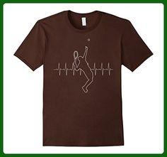 Mens Heartbeat Tennis T-Shirt 3XL Brown - Sports shirts (*Amazon Partner-Link)