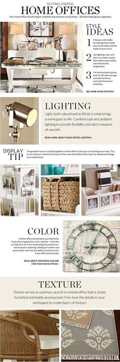 Home Office Decorating Ideas & Decorating Home Office | Pottery Barn #homeoffice #ad #officedesign #officedecor #office #officesupplies #officespace