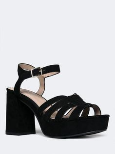 6ec33376a7e1 Perfect strappy platform sandals! Available in other colors on ZOOSHOO.com  ~ TAFFY PLATFORM