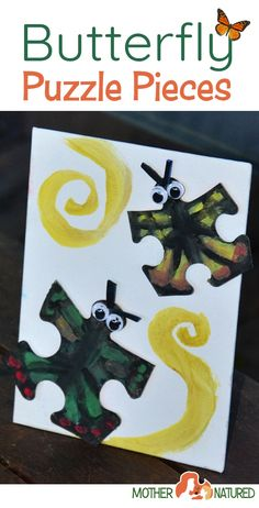 Animal puzzle craft: recycle those puzzle pieces! - Mother Natured Fun Activities For Kids, Fun Crafts For Kids, Preschool Activities, Creative Play, Creative Thinking, Puzzle Crafts, Animal Puzzle, Child Day, Nature Crafts